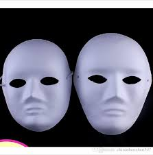 blank masquerade masks diy woman white masks painted suit for