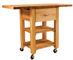 catskill craftsmen deep drawer double drop leaf cart model 1468