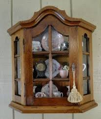 Wooden Wall Display Cabinets Locking Curio Cabinet Foter