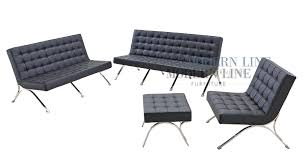 Black Tufted Sofa by Modern Line Furniture Commercial Furniture Custom Made