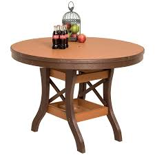 amish poly round patio dining table
