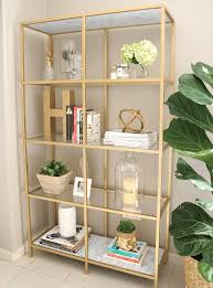 diy gold bookshelf house of hawkes