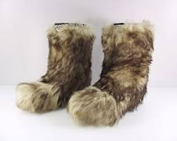 vintage neve goat fur yeti boots size eur 37 38 uk 4 5 winter