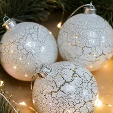 set of three marble effect glass baubles by the house shop