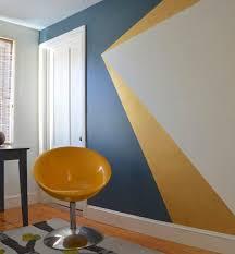chambre jaune et bleu déco salon daphnedecordesign la peinture graphique pour sublimer