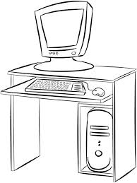 bureau table dessin dessins de meubles à colorier