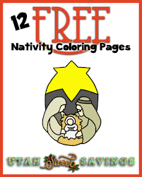 12 free nativity coloring pages 35 christmas coloring pages