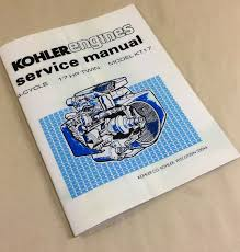 kohler engines 17hp twin cylinder model kt17 service shop repair