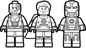 lego iron man vs lego hyperion vs lego nebula coloring book