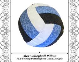 volleyball pillow pdf sewing pattern diy home decor
