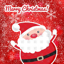 cute santa claus christmas card vector clipart image 90314