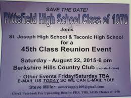 high school reunion invitations pittsfield high school dicktaylorblog