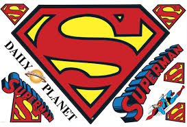 room mates popular characters superman logo dry erase wall decal default name