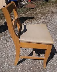 vintage 1950 u0027s blonde sewing machine chair with storage stradivaro