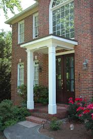 flat roof portico designed and built by georgia front porch