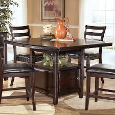 counter height table with storage charming design counter height dining table with storage creative