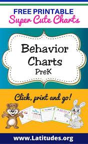 free printable behavior charts for teachers u0026 students pre k