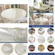 thick clear vinyl table protector eco clear round table cover protector clear plastic round tablecloth