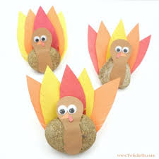 turkey rock craft thanksgiving crafts for twitchetts