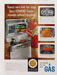 Gas Cooktop Sears 1961 Sears Kenmore Classic Gas Range Gas Stove By Retroreveries