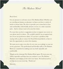 complaint letter to hotel