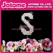 s cake topper metal rhinestone letter s cake toppers for birthday celebration