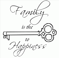 family is the key to happiness what about something like this for