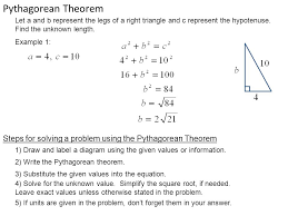 pythagorean theorem a triangle is a right triangle if and only if