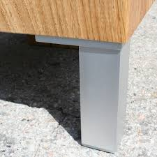 Wood Block Side Table Wood Block Coffee Table Oak Solid With 4 Metal Feet