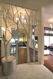 glass partition walls for home wall feature ideas eye catching unique wood furniture