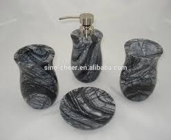 marble bath ware bathroom accessories set liquid soap dispenser
