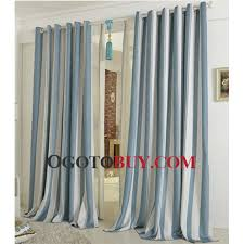 shabby chic blue striped blended material hotel curtains buy blue