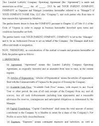 13 free sample operating agreement templates u2013 printable samples