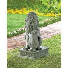 wholesale large regal guardian lion garden statue 25