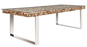 Glass Dining Table Driftwood With Glass Dining Table