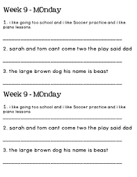 daily oral language worksheets 4th grade free worksheets library