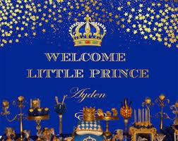 Royal Prince Decorations Royal Prince Theme Etsy
