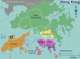 Picture Of Map Map Of Hong Kong Map Districts Weltkarte Com Karten Und