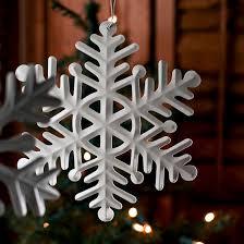 ivory metal snowflake ornament ornaments