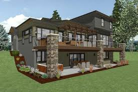 house plans for sloped lots house plan for a rear sloping lot 64452sc architectural