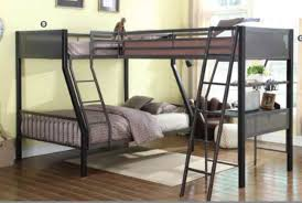 Loft Bunk Beds Black Gunmetal Steel Loft Bunk Bed For 3