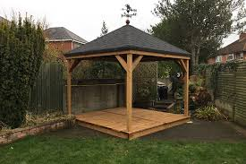 Gazebo Fire Pit by Modern Garden Gazebo Complete With Metal Patio Furnitures And