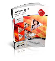 solaro study guide ontario mathematics 12 calculus and vectors