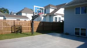 a great shot of the pro dunk silver basketball system on a