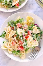 Creamy Pasta Salad Recipes by Blt Pasta Salad Recipe Crunchy Creamy Sweet