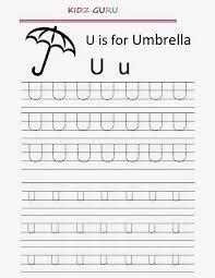 kindergarten worksheets printable tracing worksheet alphabet u u
