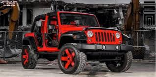 jeep wrangler red jeep wrangler xd series xd775 rockstar wheels matte black red