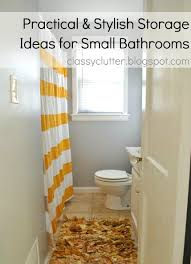 practical and stylish storage ideas for small bathrooms classy