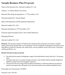 example business proposal business proposal templated business