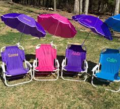 Personalized Kid Chair Child U0027s Personalized Beach Chair With Umbrella Sand